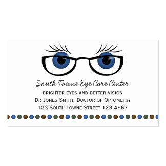 Blue Eyes and Glasses Business Card Template