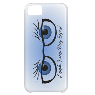 Blue Eyes and Glasses Case For iPhone 5C