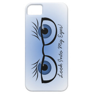 Blue Eyes and Glasses iPhone 5 Covers