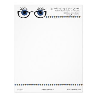 Blue Eyes and Glasses Letterhead