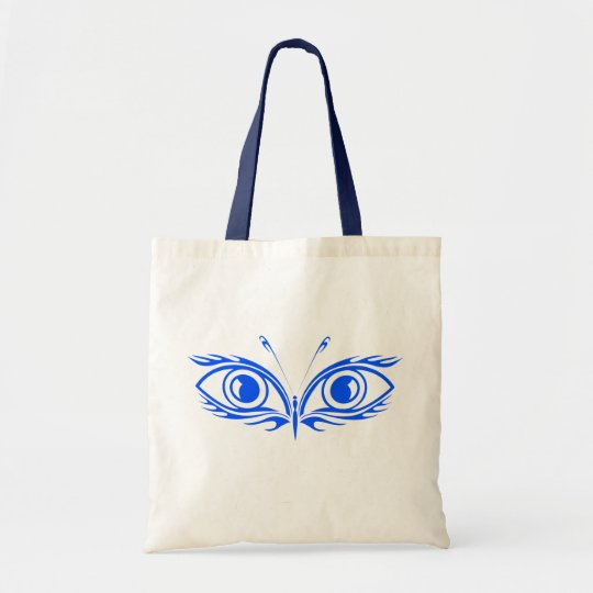 Blue Eyes Butterfly Reusable Tote Bag