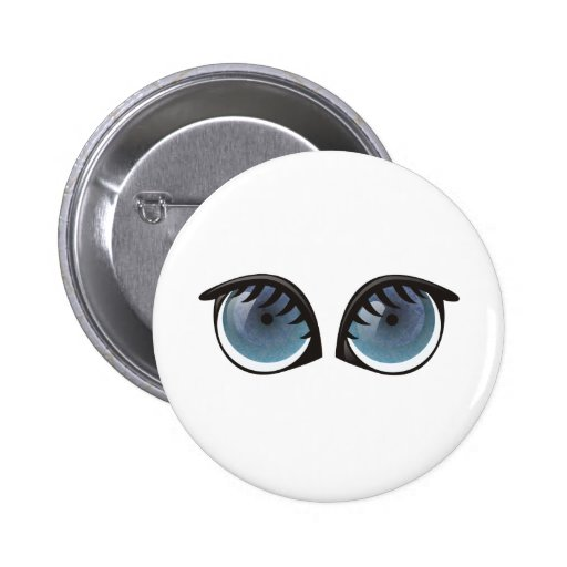 Blue Eyes Cartoon Pin