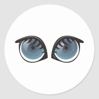 Blue Eyes Cartoon Stickers