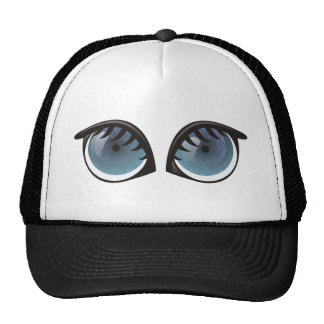 Blue Eyes Cartoon Trucker Hat
