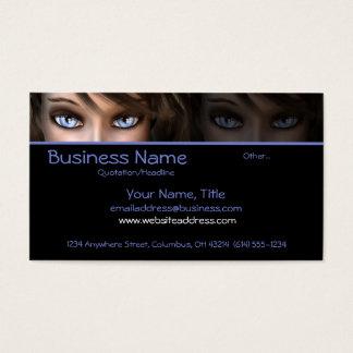 Blue Eyes D1 - Fantasy Business Cards