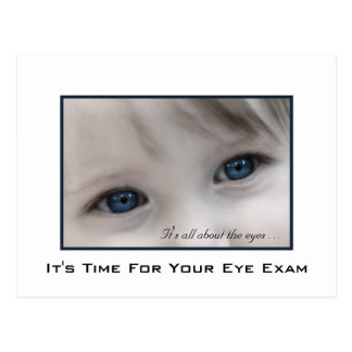 Blue Eyes Eye Exam Appointment Reminder Postcard