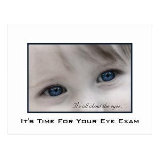 Blue Eyes Eye Exam Appointment Reminder Postcard