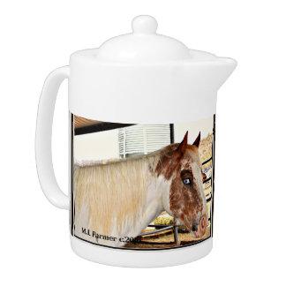 """Blue Eyes"" Horse Accent Teapot"