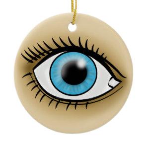 Blue Eyes icon Ceramic Ornament