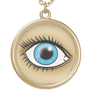 Blue Eyes icon Gold Plated Necklace