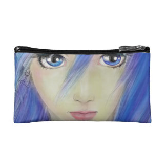 Blue Eyes Message Cosmetic Bag