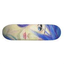 Blue Eyes Message Skateboard