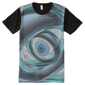 Blue Eyes of A Machine All-Over Print T-shirt