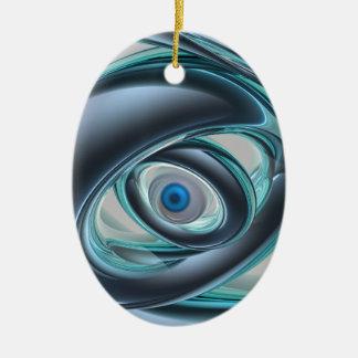 Blue Eyes of A Machine Ceramic Ornament