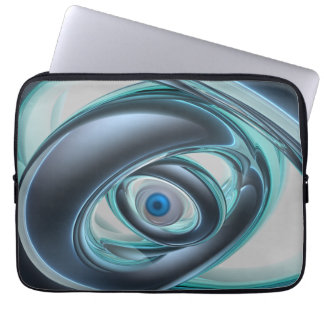 Blue Eyes of A Machine Laptop Sleeves