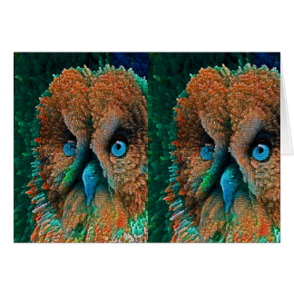 BLUE EYES OWL CARD