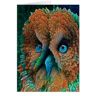 BLUE EYES OWL CARD