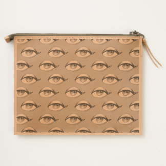 Blue Eyes Pattern Pink Travel Pouch