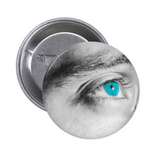 Blue eyes pinback button