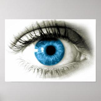 Blue Eyes Print