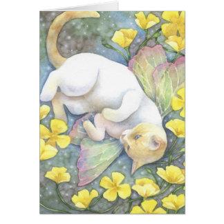 Blue Eyes - Siamese Fairy Cat Art Card Greeting Card