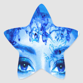 Blue Eyes Star Sticker