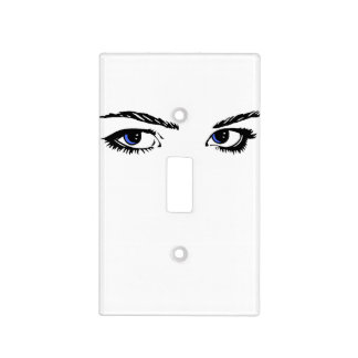 Blue Eyes Switchplate Light Switch Cover