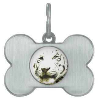 Blue Eyes, White Tiger Pet Tag