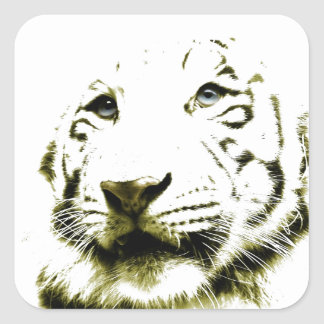 Blue Eyes, White Tiger Square Sticker