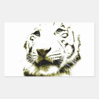 Blue Eyes, White Tiger Rectangular Stickers