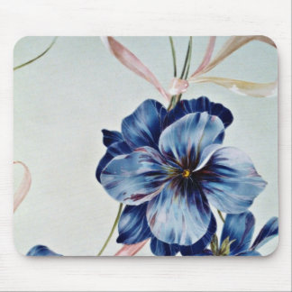 Blue eyes Yellow flowers Mousepads