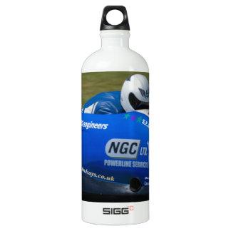 Blue F2 sidecar Aluminum Water Bottle