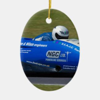 Blue F2 sidecar Ceramic Ornament