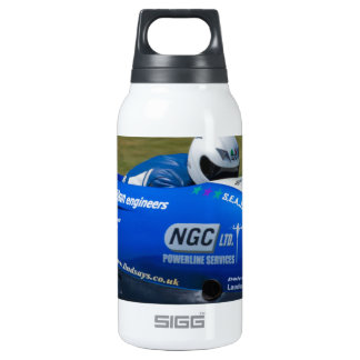Blue F2 sidecar Thermos Water Bottle
