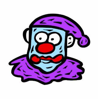 Blue Face Clown Statuette