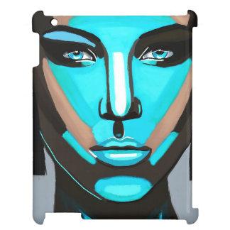 Blue Face iPad Case