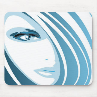 Blue face mouse pad