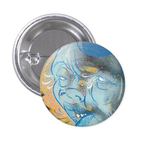 Blue Face Pin