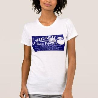 """Blue """"FACE POWDER"""" Womens T-shirt"""