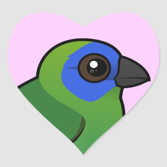 Blue-faced Parrotfinch Heart Sticker