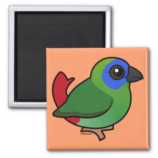 Blue-faced Parrotfinch Refrigerator Magnets