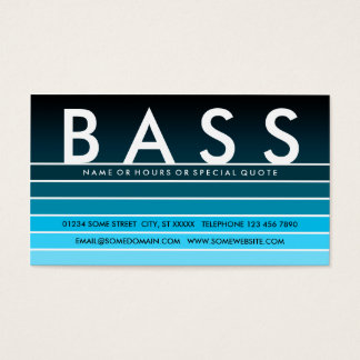 blue fade BASS Business Card