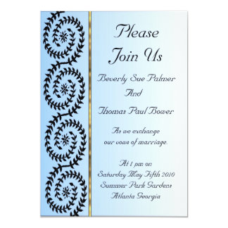 Blue Fade Effect With Gold Effect Accent Card