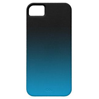 Blue Fade Iphone Case black iPhone 5 Cases