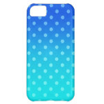 Blue Fade: Polka-dot Case For iPhone 5C