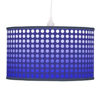 Blue Fade Polka Dot Pendant Lamp