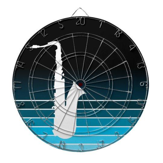 blue fade saxophone dart board