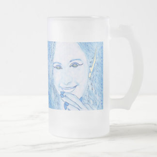 Blue Faeries Are Magical Friends Glass Mug