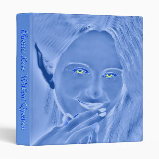 Blue Faeries Love Without Question Binder