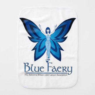 Blue Faery burp cloth